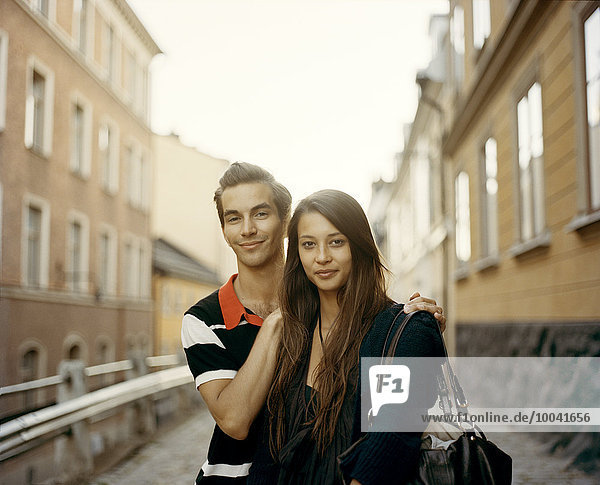 Young couple in Stockholm.