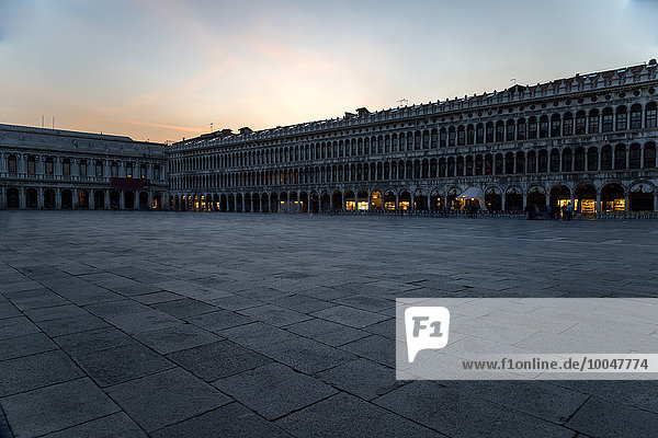 Italy  Venice  St Mark's Square at dusk