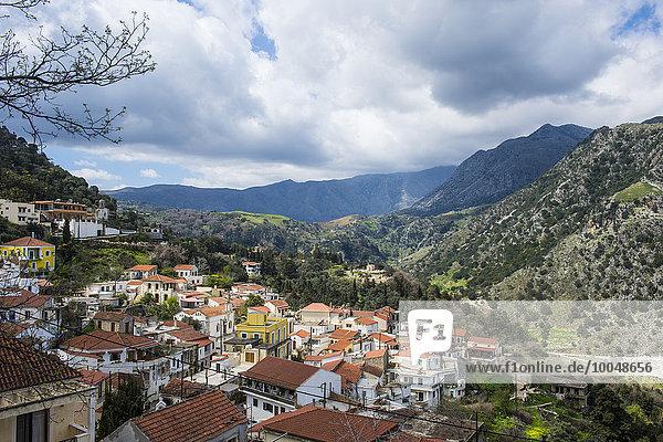 Griechenland  Kreta  Bergdorf Fournes