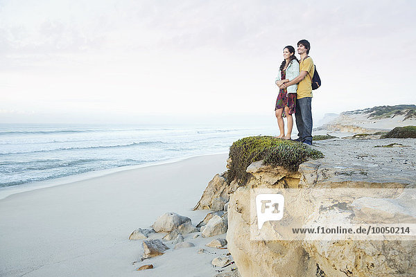 South Africa  couple standing at the coast