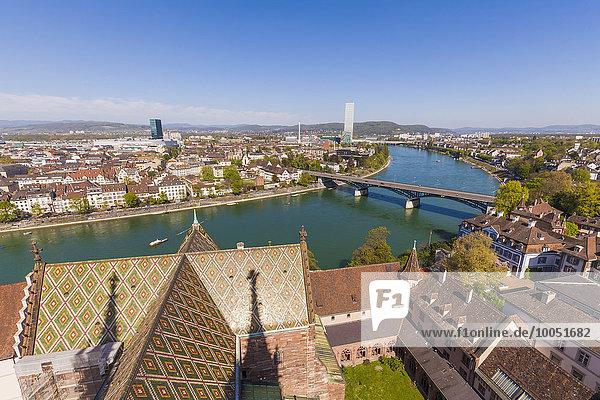 Schweiz  Basel  Stadtansicht vom Münster aus