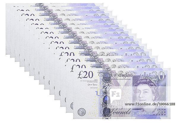 20 britische Pfunde Banknoten