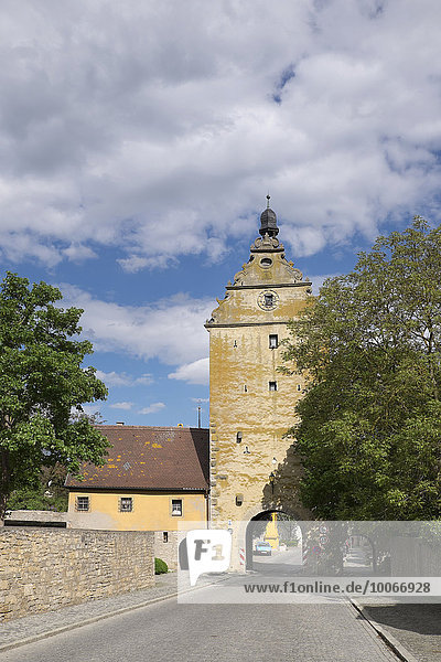 Unteres Tor  Frickenhausen am Main  Mainfranken  Unterfranken  Franken  Bayern  Deutschland  Europa