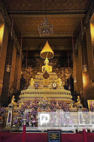 Bangkok Hauptstadt Asien Buddhastatue Thailand