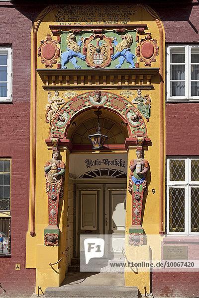 Die alte Raths-Apotheke  Lüneburg  Niedersachsen  Deutschland  Europa