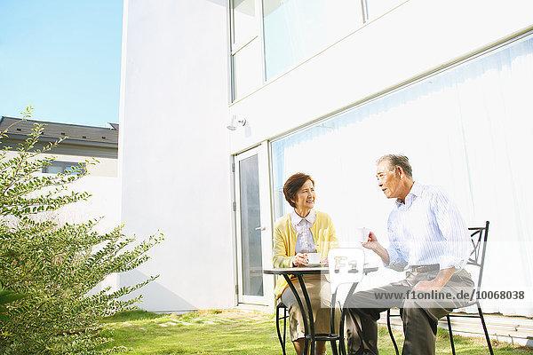 Senior Senioren Garten japanisch