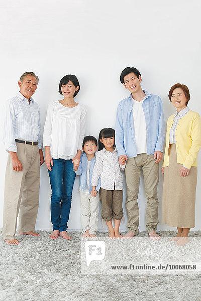 Mehrgenerationen Familie japanisch
