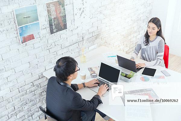 Mensch Menschen arbeiten Büro japanisch modern