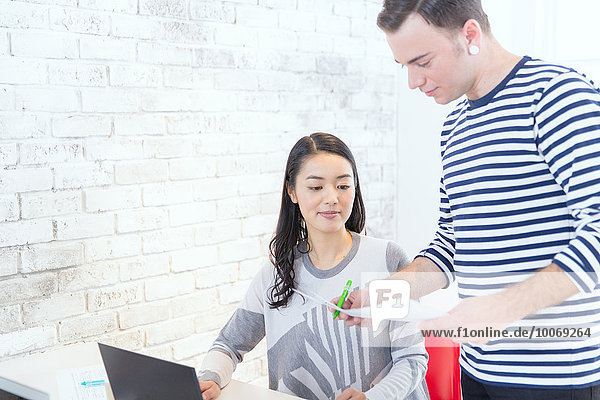 Multi-ethnic business people working in modern office