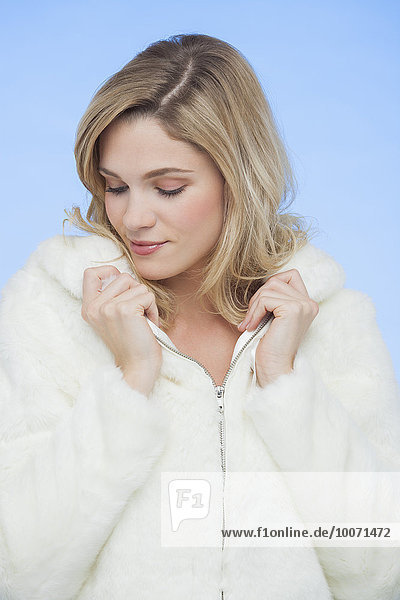 Close-up of a beautiful woman posing
