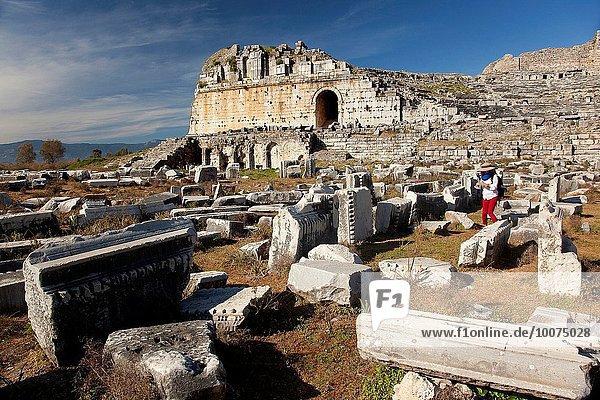Tourist Ruine antik Provinz Aydin
