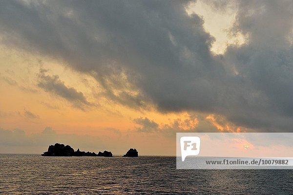 Himmel über Morgendämmerung Krone Teufel Ecuador
