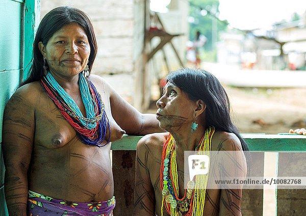 Frau Indianer Ethnisches Erscheinungsbild Panama Volksstamm Stamm