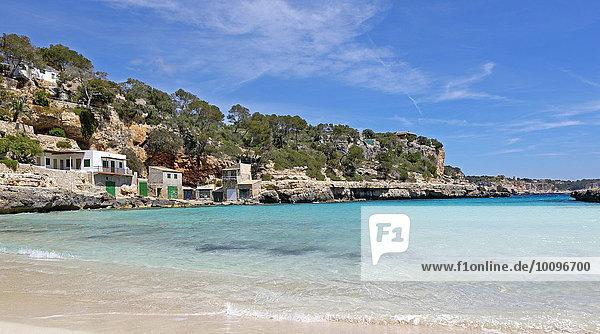Bucht Cala Llombards  Santanyi  Mallorca  Balearen  Spanien  Europa