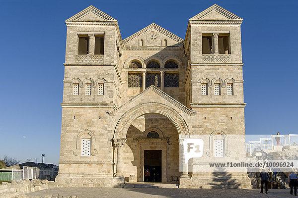 Verklärungsbasilika auf dem Berg Tabor  Galiläa  Israel  Asien