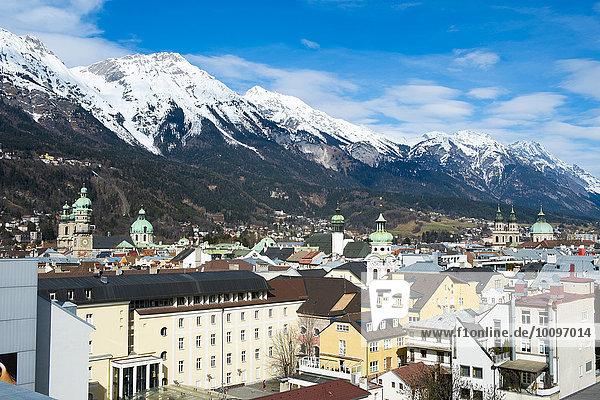 Stadtansicht  Innsbruck  Tirol  Österreich  Europa
