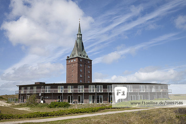 Westturm  Jugendherberge  Wangerooge  Ostfriesische Insel  Ostfriesland  Niedersachsen  Deutschland  Europa