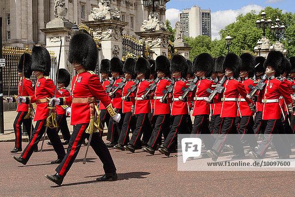 Wachablösung  Buckingham Palast  London  England  Großbritannien  Europa