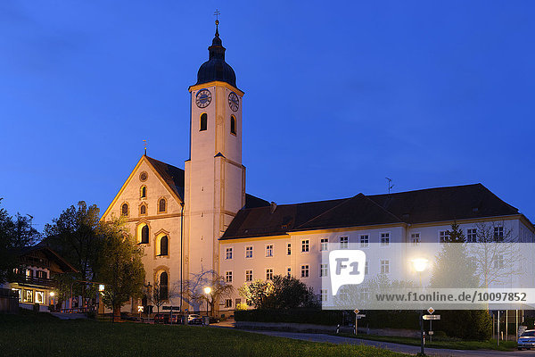 Former collegiate church of the Assumption  now a parish church  Dietramszell  Upper Bavaria  Bavaria  Germany  Europe