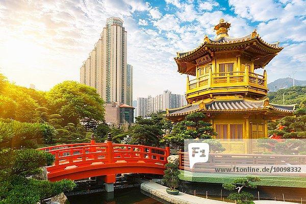 Pagode und Pavillon  Nan Lian Garden  Diamond Hill  Hongkong  China