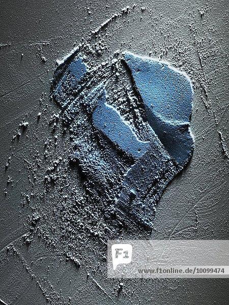 Auszug aus feinem blauen Lidschattenpuder