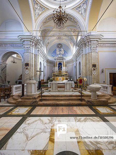 Kirche von Stromboli  San Vincenzo Ferreri  Isola Stromboli  Äolische oder Liparische Inseln  Sizilien  Italien  Europa