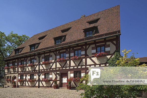 Finanzstadel auf der Kaiserburg  Nürnberg  Mittelfranken  Bayern  Deutschland  Europa