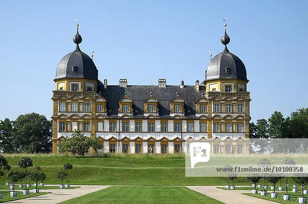Schloss Seehof  Memmelsdorf  bei Bamberg  Oberfranken  Bayern  Deutschland  Europa