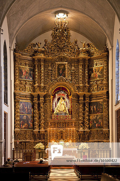 Altar of Virgen de los Remedios inside the cathedral Nuestra Senora de los Remedios  San Cristóbal de La Laguna  Tenerife  Canary Islands  Spain Cathedral