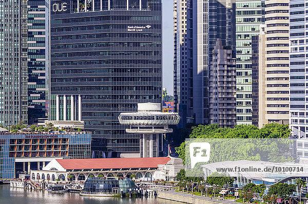 Finance District mit Clark Quay  Singapur  Indonesien  Asien
