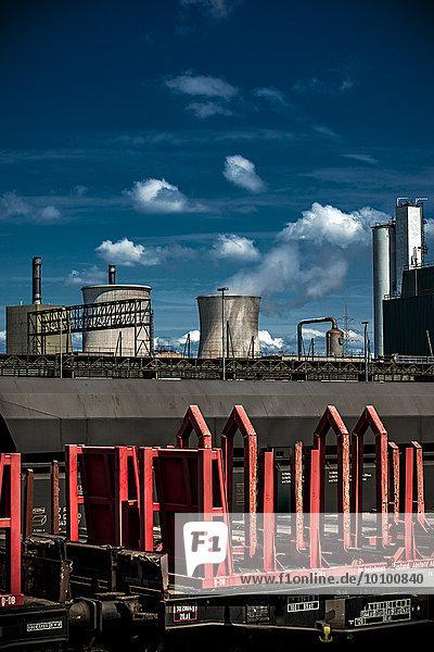 Hüttenwerke Krupp Mannesmann  Duisburg  Nordrhein-Westfalen  Deutschland  Europa