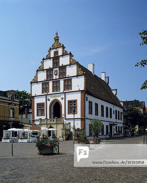 Historic town hall  Bad Salzuflen  North Rhine-Westphalia  Germany  Europe