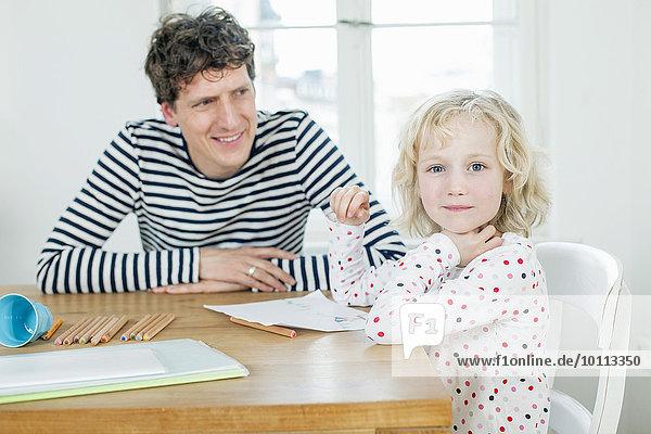 Buch Menschlicher Vater bemalen Tochter Taschenbuch