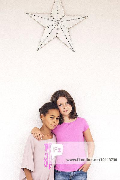 Young friends  portrait