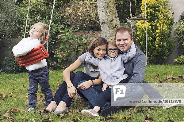 Familiy in park  portrait