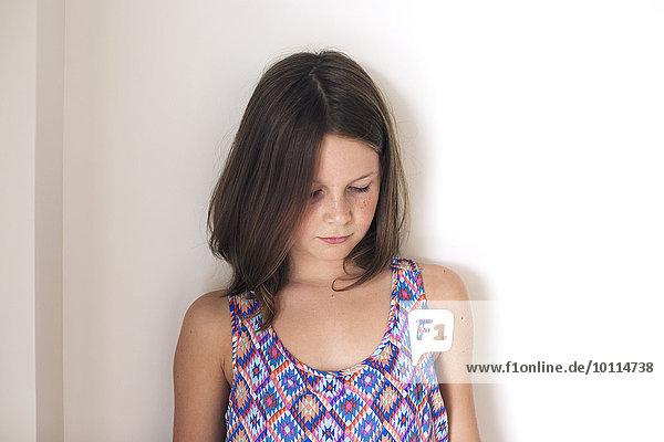 Girl looking down  portrait
