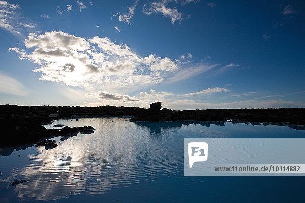 Blue Lagoon geothermal spa  Reykjanes Peninsula  Iceland