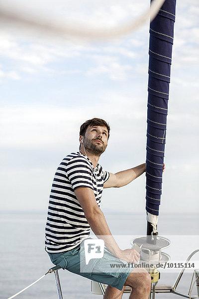 Mann zuhören Musik Klassisches Konzert Klassik Adriatisches Meer Adria