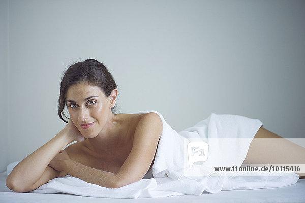 Frau Entspannung Beauty Spa