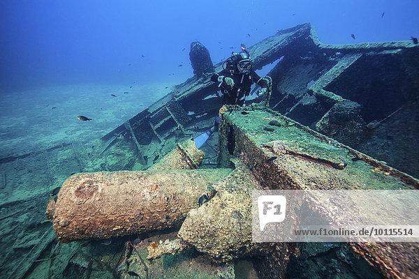Schiffswrack, Forschung, Taucher, Adriatisches Meer, Adria