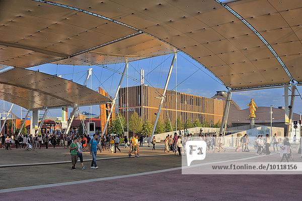 Zeltdach-Hauptstraße der Expo 2015  Mailand  Lombardei  Italien  Europa