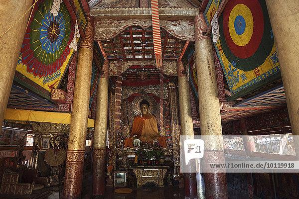 fünfstöckig Buddhismus blass Myanmar Asien Buddha Kloster