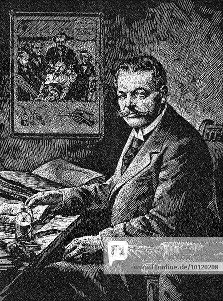 Carl Ludwig Schleich  1859  1922  ein deutscher Chirurg und Schriftsteller  Illustration