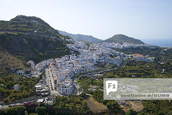 Weiße Dörfer  Frigiliana  Costa del Sol  Andalusien  Spanien  Europa