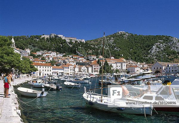 Harbour  Hvar  Hvar Island  Dalmatia  Dalmatian Coast  Croatia  Europe