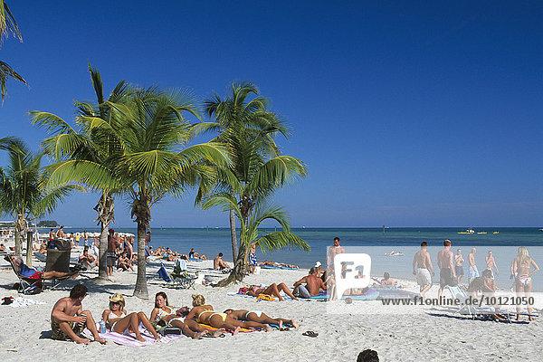Smathers Beach  Key West  Florida Keys  Florida  USA  Nordamerika