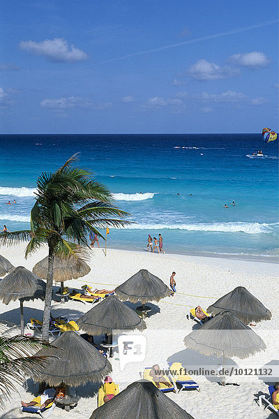 Beach  Cancun  Riviera Maya  Mayan Riviera  Yucatan  Mexico  North America