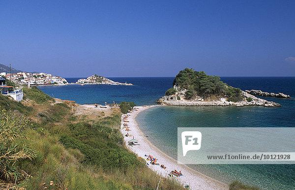 Strand von Kokkari  Samos  Griechenland  Europa