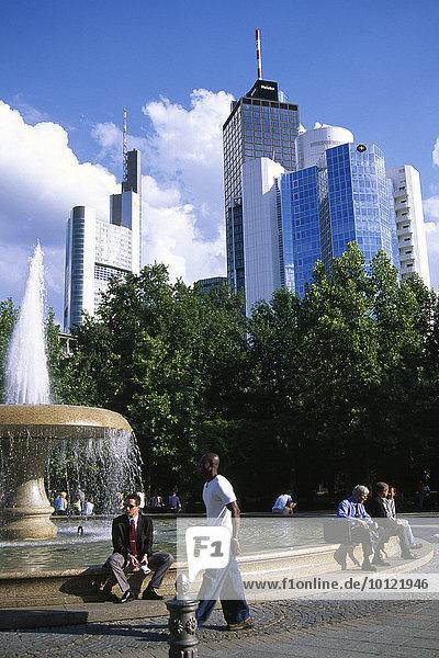 Bankenviertel  Frankfurt  Hessen  Deutschland  Europa