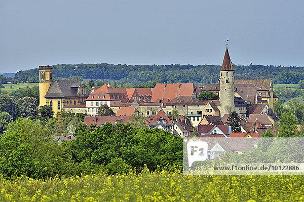Ortsansicht  Kirchberg an der Jagst  Baden-Württemberg  Deutschland  Europa